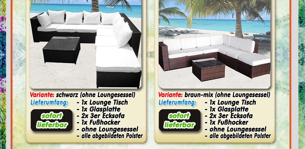 luxus xxxl polyrattan loungem bel set gartenm bel. Black Bedroom Furniture Sets. Home Design Ideas
