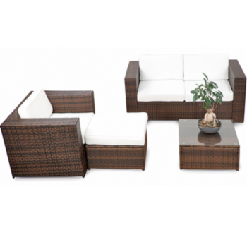 18tlg polyrattan gartenm bel xxl eck lounge m bel set. Black Bedroom Furniture Sets. Home Design Ideas