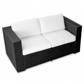 xxl polyrattan gartenm bel lounge m bel sofa couch bank 2er sessel garten sofa ebay. Black Bedroom Furniture Sets. Home Design Ideas